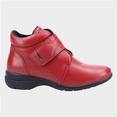 Chalford Womens Red Leather Ankle Boot