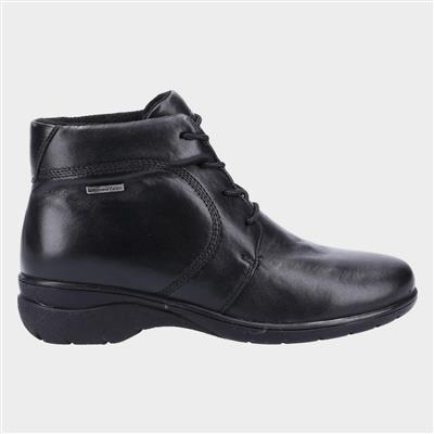 Bibury Womens Black Leather Ankle Boot