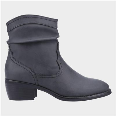Adele Womens Western Ankle Boot in Black