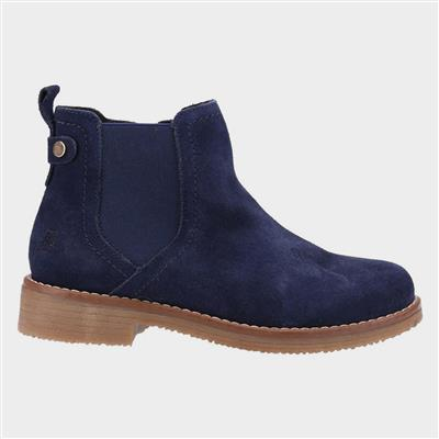 Maddy Womens Navy Suede Ankle Boot