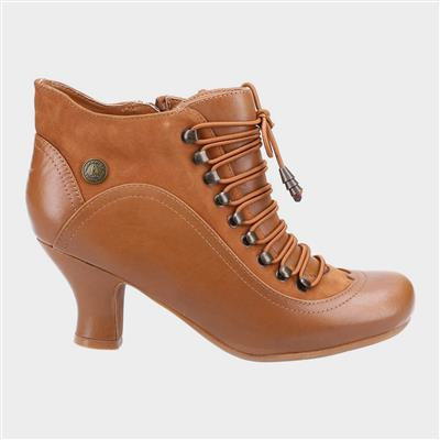 Vivianna Womens Ankle Boot in Tan