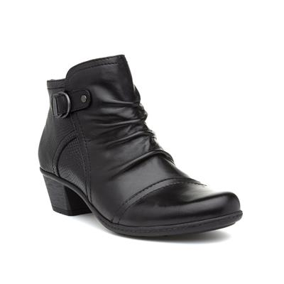 Seymour Womens Black Leather Boot