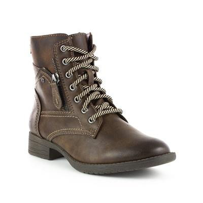 Womens Lace Up Brown Boot