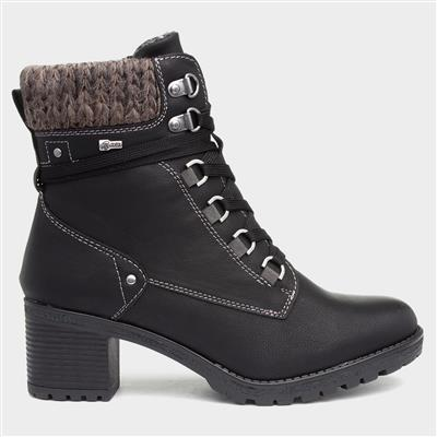 Stacey Womens Heeled Boot in Black