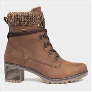 Relife Stacey Womens Heeled Boot in Brown (Click For Details)