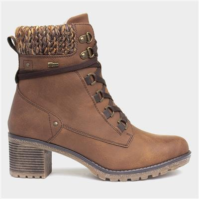 Stacey Womens Heeled Boot in Brown