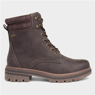 Laura Womens Lace Up Boot in Brown