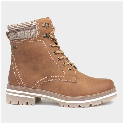 Laura Womens Lace Up Boot in Tan