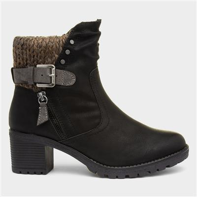 Tracey Womens Black Heeled Boot
