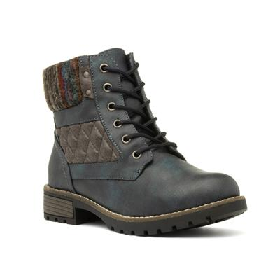 Chariot Womens Navy Ankle Boot