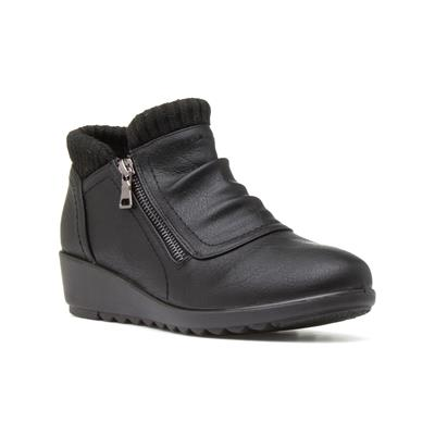 Womens Black Wedge Ankle Boot