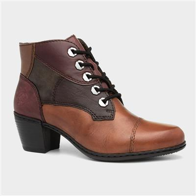 Womens Multi-Coloured Leather Heeled Boot