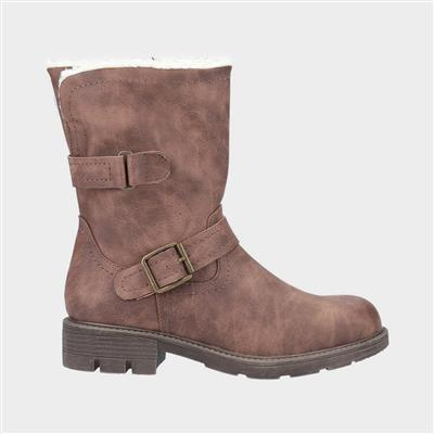 Womens Whitney Fur Lined Boot in Brown