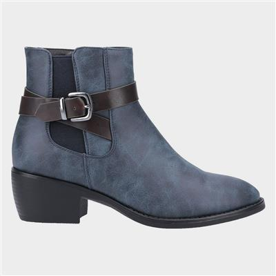 Womens Farrah Ankle Boot in Blue