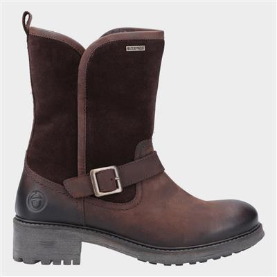 Womens Randwick Leather Boot in Brown
