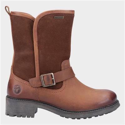 Womens Randwick Leather Boot in Tan