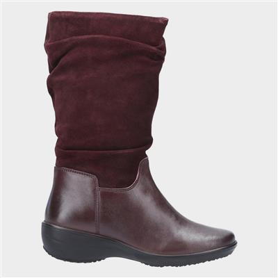 Margot Burgundy Leather Zip Boot