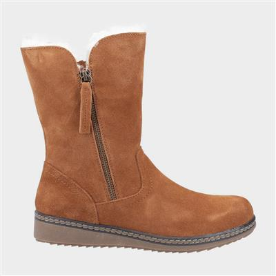Womens Freya Tan Suede Ankle Boot