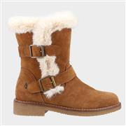Hush Puppies Macie Womens Suede Boot in Tan (Click For Details)