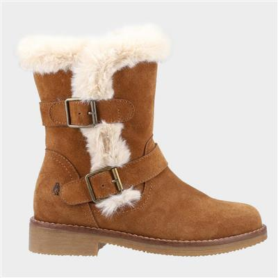 Macie Womens Suede Boot in Tan
