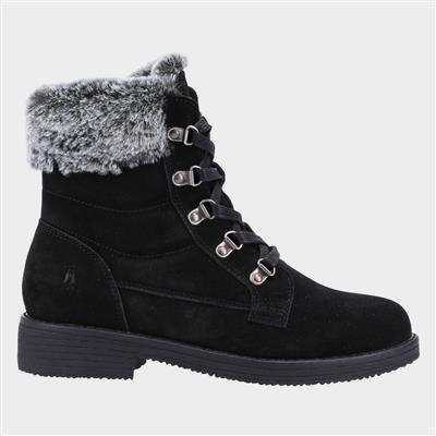 Florence Womens Suede Boot in Black