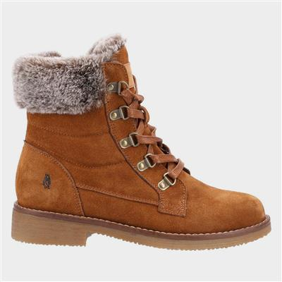 Florence Womens Suede Boot in Tan