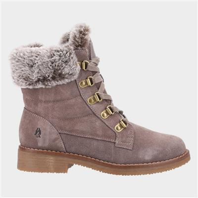 Florence Womens Suede Boot in Taupe