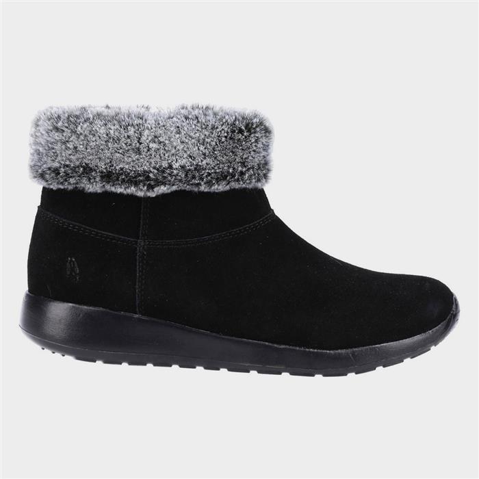 Vintage Winter Retro Boots – Snow, Rain, Cold Hush Puppies Lollie Womens Black Suede Ankle Boot £49.99 AT vintagedancer.com