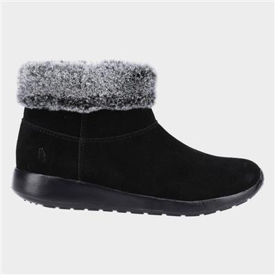 Lollie Womens Black Suede Ankle Boot