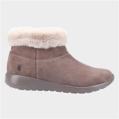 Lollie Womens Taupe Suede Ankle Boot