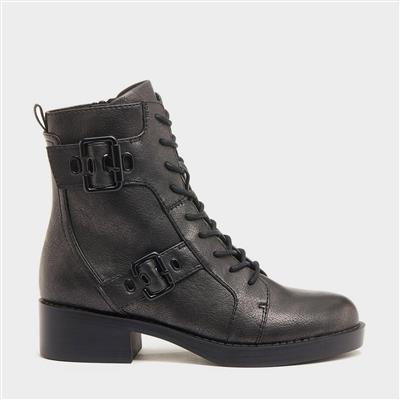 Pearly Womens Lace Up Boot in Grey
