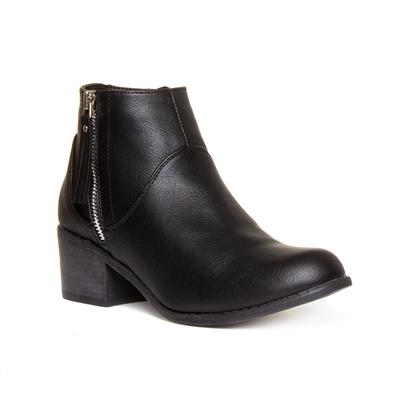 Womens Block Heeled Ankle Boot in Black