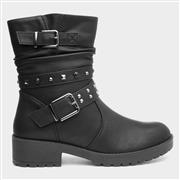 Lilley Womens Stud Ankle Boot in Black (Click For Details)