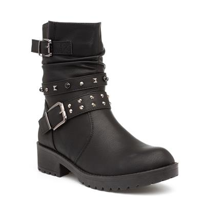 Womens Stud Ankle Boot in Black
