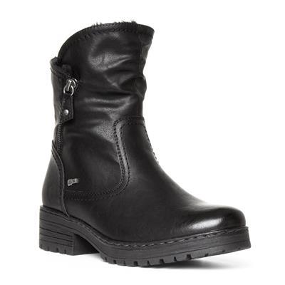 Womens Black Biker Boot