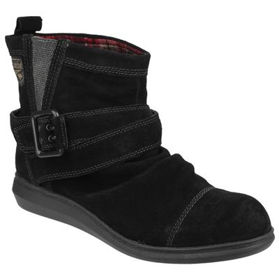 Womens Mint Pull On Boot in Black