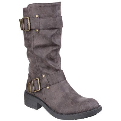 Womens Trumble Biker Boot in Brown
