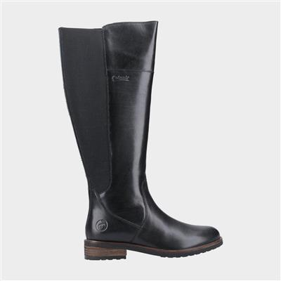 Womens Montpellier Black Leather Boot