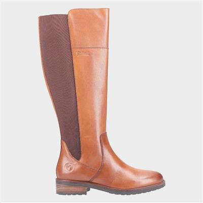 Montpellier Womens Long Boot in Tan