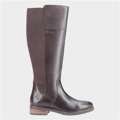 Montpellier Womens Long Boot in Brown