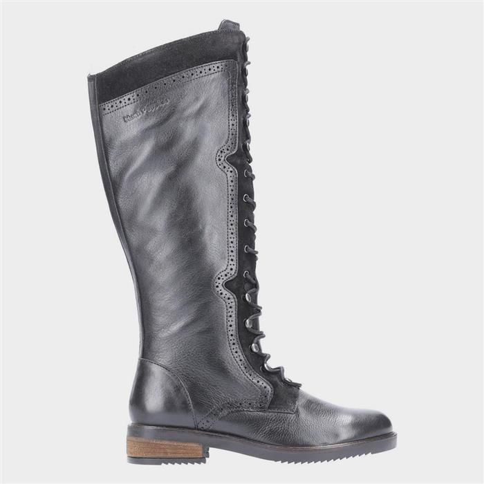 History of Victorian Boots & Shoes for Women Hush Puppies Rudy Women Black High Leg Boot £89.99 AT vintagedancer.com