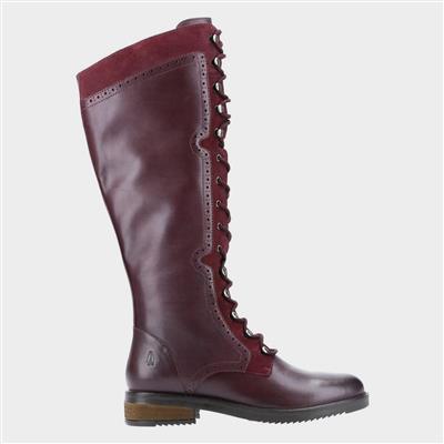 Rudy Womens Red High Leg Boot