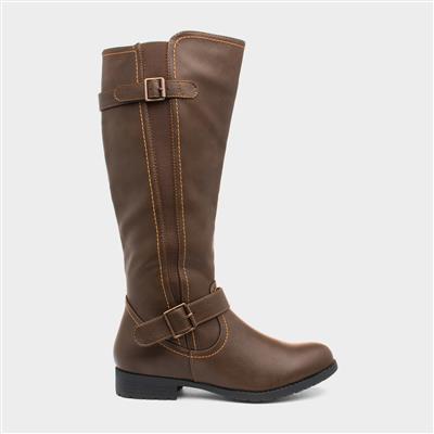 Womens Brown Knee High Boot
