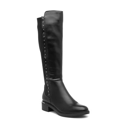 Womens Black Zip Up Riding Boot