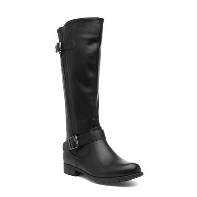 Womens Black Riding Boot with Buckles