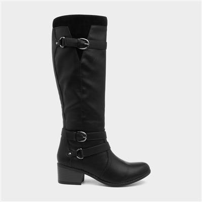 Womens Black Riding Boot
