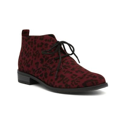 Chianti Womens Wine Ankle Boot