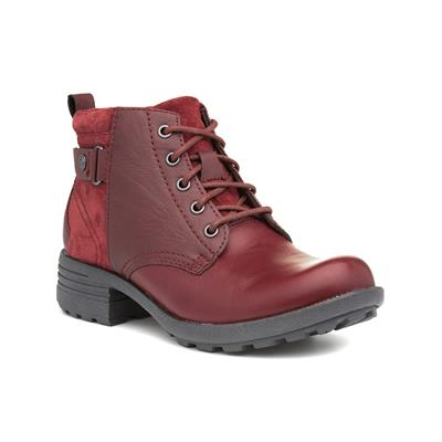Paxton Womens Leather Red Ankle Boot