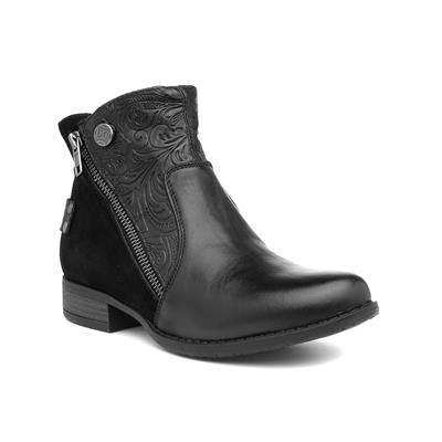 Lincroft Womens Black Leather Boot