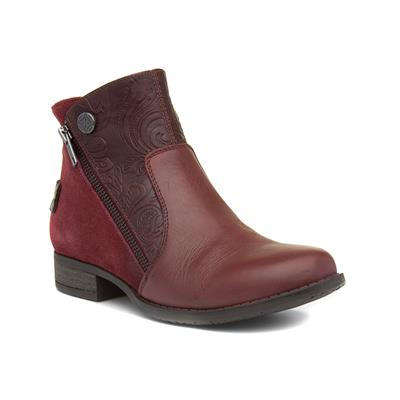 Lincroft Womens Burgundy Leather Boot